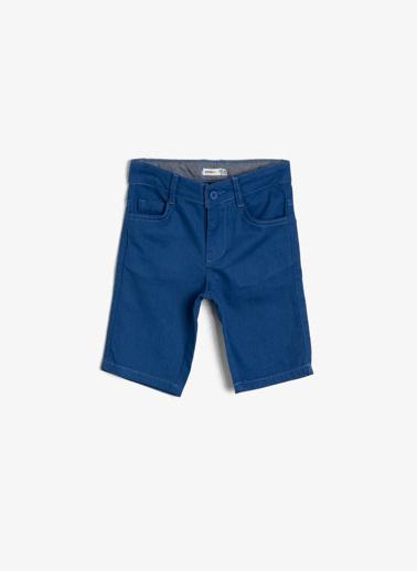 Koton Kids Cep Detayli Sort Mavi